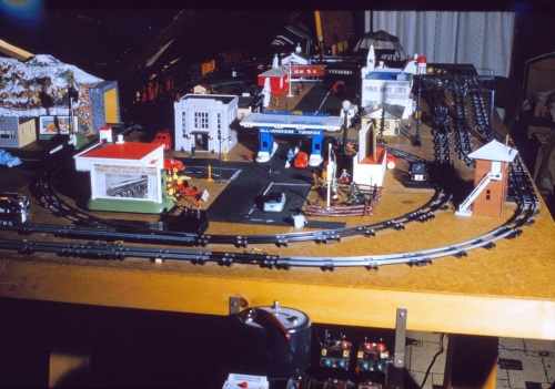 Model trains, late 1950s. How much to ride on the All-American Turnpike?